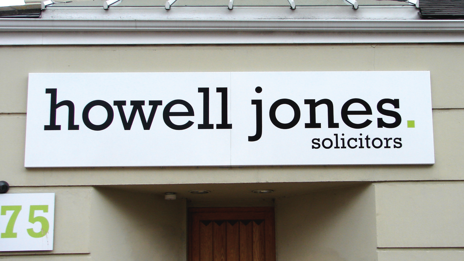 Surrey brand agency for Howell Jones signage