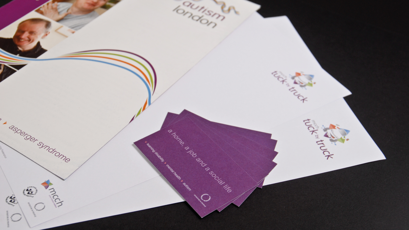 Stationery designs and corporate brochure designs for Charity MCCH