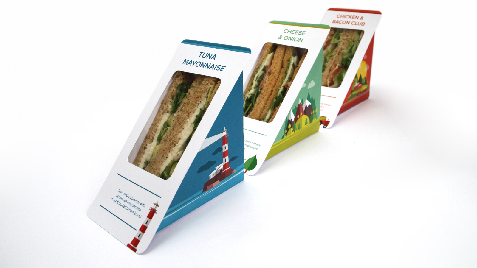 Creative sandwich pack designs with stand out illustrations