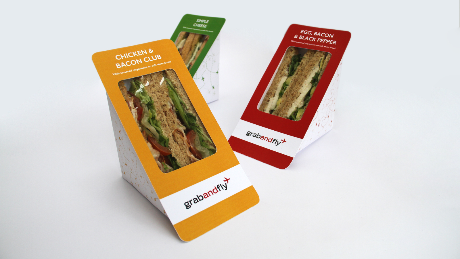 Colourful sandwich pack designs