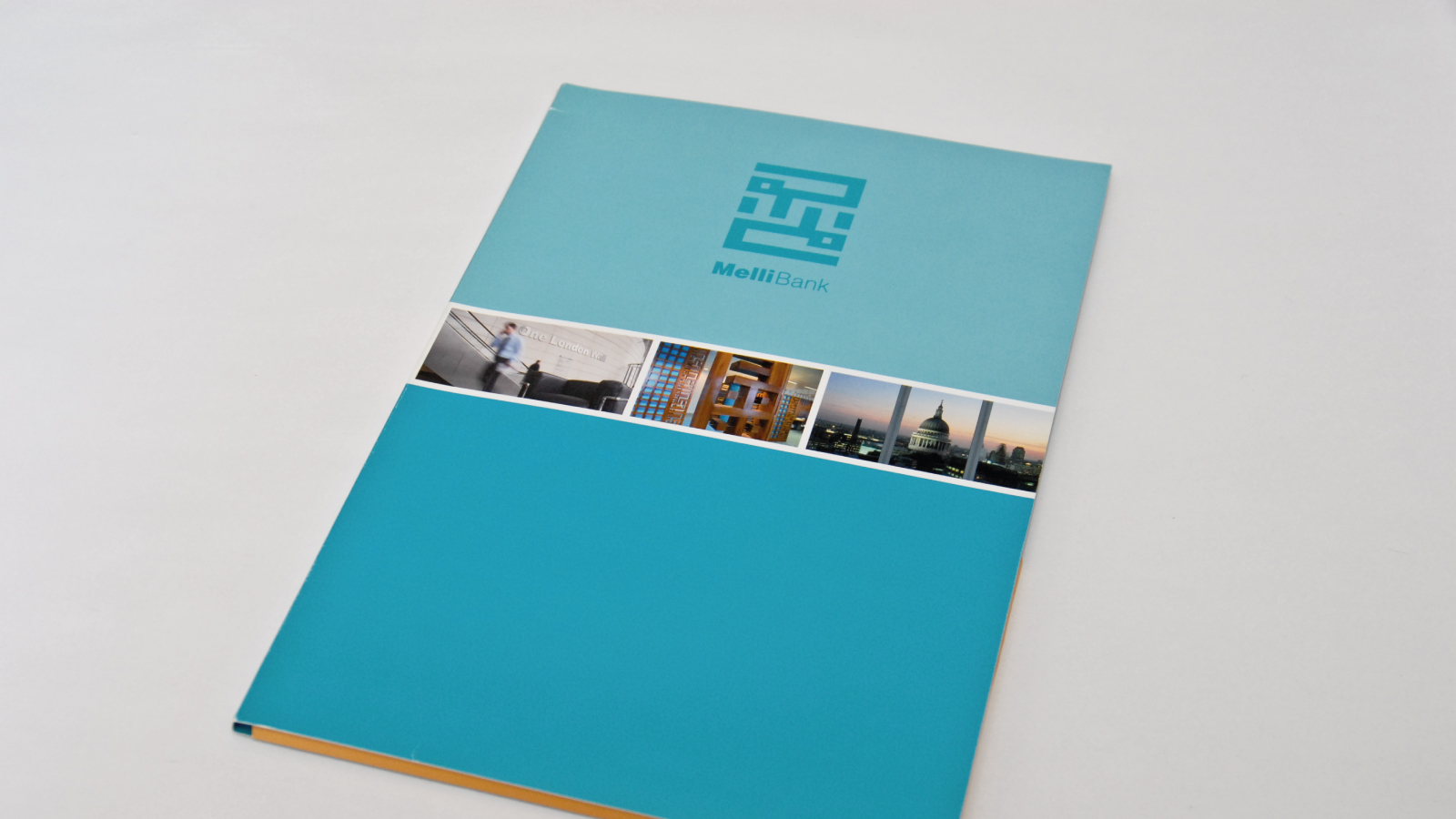 Corporate folder designed in Reigate for Mellibank
