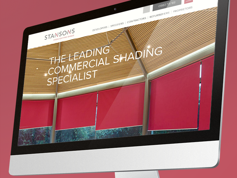 Stansons Website and Brand Launch created by Knibbs Design in Reigate Surrey