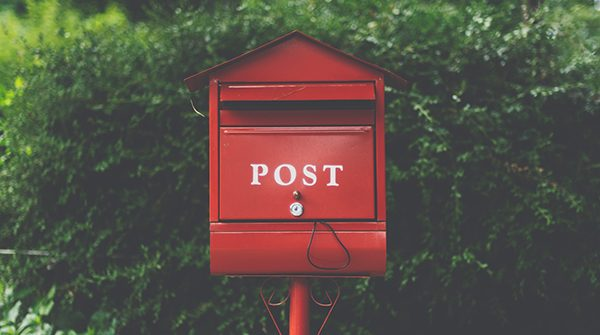 red post box for newsletters
